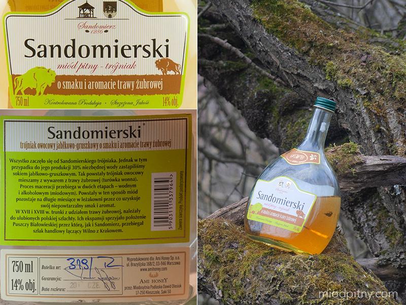 Trójniak Sandomierski z trawą żubrową - Sandomierski Miód Pitny